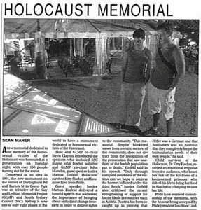 gay and lesbian holocaust memorial launch